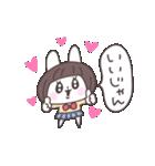ショートヘア女子うさぎ(個別スタンプ:02)