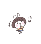 ショートヘア女子うさぎ(個別スタンプ:03)