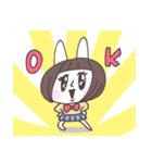 ショートヘア女子うさぎ(個別スタンプ:24)
