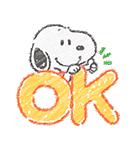 スヌーピー☆ふんわり可愛いクレヨンタッチ(個別スタンプ:01)