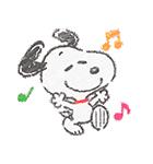 スヌーピー☆ふんわり可愛いクレヨンタッチ(個別スタンプ:03)