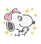 スヌーピー☆ふんわり可愛いクレヨンタッチ(個別スタンプ:05)