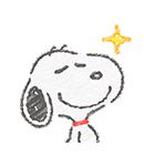 スヌーピー☆ふんわり可愛いクレヨンタッチ(個別スタンプ:21)