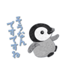 ペンギンのアップリケ01(個別スタンプ:10)