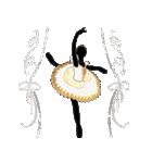 美しのバレエ シルエット*ballet*3幕(個別スタンプ:40)