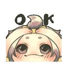 ゆるかわガール(個別スタンプ:01)