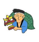 お祭り!獅子舞スタンプ(個別スタンプ:35)