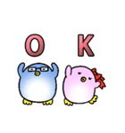 ラブラブ・ペンギンカップル(個別スタンプ:1)