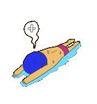 オトナ水泳男子のためのスタンプ(個別スタンプ:13)
