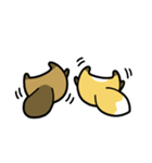 タヌキとキツネ3(個別スタンプ:26)