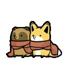 タヌキとキツネ3(個別スタンプ:32)