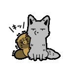 タヌキとキツネ3(個別スタンプ:40)