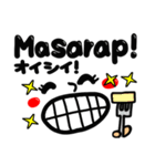 【Tagalog】大きな幸せリアクション。(個別スタンプ:32)