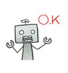 ぽんこつロボット(個別スタンプ:01)
