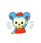昭和レトロ風なクマとウサギ(個別スタンプ:01)
