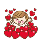 ハートがたくさん♥ラブラブゆるカジ女子(個別スタンプ:02)