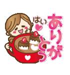 ハートがたくさん♥ラブラブゆるカジ女子(個別スタンプ:10)