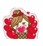 ハートがたくさん♥ラブラブゆるカジ女子(個別スタンプ:17)