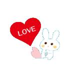好きウサギ(オス)(個別スタンプ:01)