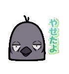 トリの顔芸スタンプ(黒)(個別スタンプ:10)