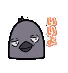 トリの顔芸スタンプ(黒)(個別スタンプ:12)
