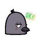 トリの顔芸スタンプ(黒)(個別スタンプ:15)