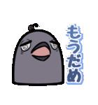 トリの顔芸スタンプ(黒)(個別スタンプ:20)