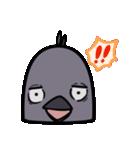 トリの顔芸スタンプ(黒)(個別スタンプ:24)