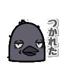 トリの顔芸スタンプ(黒)(個別スタンプ:28)
