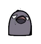 トリの顔芸スタンプ(黒)(個別スタンプ:29)