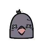 トリの顔芸スタンプ(黒)(個別スタンプ:30)