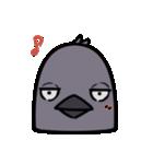 トリの顔芸スタンプ(黒)(個別スタンプ:31)