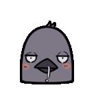 トリの顔芸スタンプ(黒)(個別スタンプ:32)