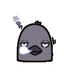 トリの顔芸スタンプ(黒)(個別スタンプ:33)