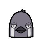 トリの顔芸スタンプ(黒)(個別スタンプ:34)