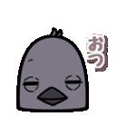 トリの顔芸スタンプ(黒)(個別スタンプ:37)