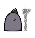トリの顔芸スタンプ(黒)(個別スタンプ:39)
