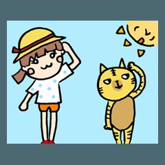 あいちゃんとネコ