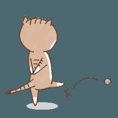 猫好き主婦のスタンプ