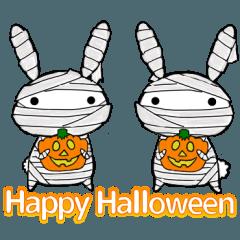 [LINEスタンプ] 適当ちゃらい兎のウサ吉6 ハロウィンver (1)