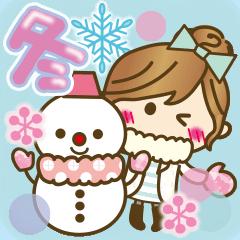 【冬に使える♥】ゆるカワ彼女♥