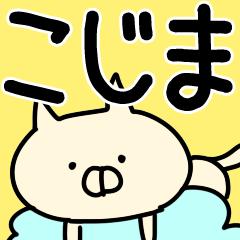 【こじま/小島】専用/名字/名前スタンプ