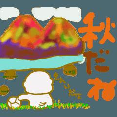 ビションフリーゼ スタンプ part5 ~秋~