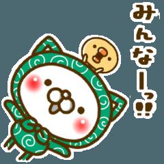 [LINEスタンプ] ふろしきネコ(みんなに呼びかけ)
