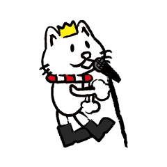 [LINEスタンプ] crown scarf boots CAT