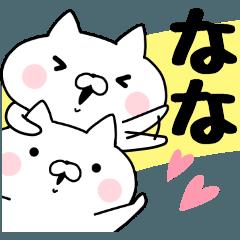 [LINEスタンプ] ななちゃんが使うスタンプ (1)