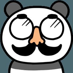 【動く】ゆるパンダと鼻メガネ