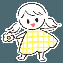 使いやすい女の子スタンプ