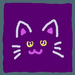 ハロウィーン黒猫スタンプ