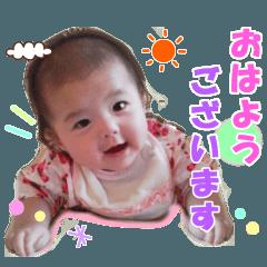 赤ちゃんの写真スタンプ